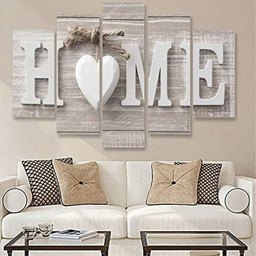 Kloius Home Wooden Home Letter Prints Foto Gemälde Wandkunst für Hauptdekorationen Gemälde