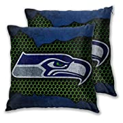 ULTRA HIGH QUALITY: Our double sided high quality brushed superfine fiber pillowcase offers you unmatched softness and comfort.These envelope Seattle Seahawks pillows are breathable, stain resistant, wrinkle resistant, and color resistant.Good stitch...