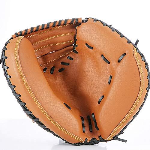 Baseballhandschuh Erwachsene Catchers Mitt Baseball-Handschuhe PVC Leder verdicken Dämpfung Durable Softball Handschuhe Durchschnittliche Größe for die linke Hand für Pitcher Anfänger Training