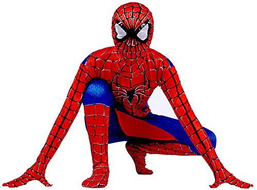 Traje de niño spiderman cosplay homecoming Lujo disfraz halloween carnaval superheroe spider-man cosplay suit 3D print spiderman traje,G-XS(102~112)