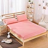MyGlnl Cama sólida 100% poliéster Sábana Cubierta de colchón Cuatro Esquinas con sábanas de Banda elástica-yuse_90cmX200cmX25cm
