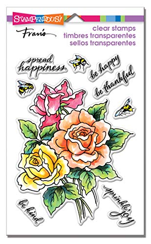 Stampendous Perfectly Clear Stamps-Roses Be Happy