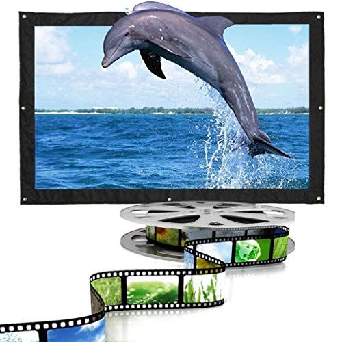 ZHSHML TYYJY Proyector plegable 16:9 60 72 84 100 120 150 pulgadas blanco Proyector de pantalla de proyección Proyector TV Home Audiovisual Pantalla (Tamaño: 72 pulgadas)