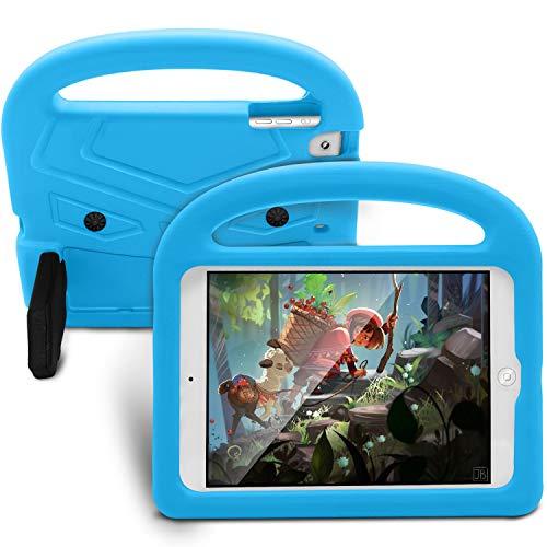 GUOQING Funda para tablet y PC, funda de silicona para iPad Mini 1/2/3/4/5, para niños, a prueba de golpes, ligera, a prueba de caídas, con asa y soporte (color: azul)