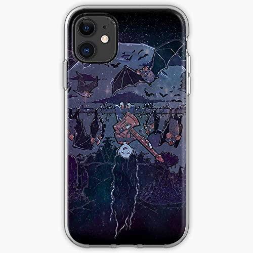 Compatible con iPhone Samsung Xiaomi Redmi Note 10 Pro/9/8/9A/Poco M3 Pro Funda Adventure Music Bats Guitar Marceline Network Vampire Time Goth Cartoon Cajas del Teléfono Cover