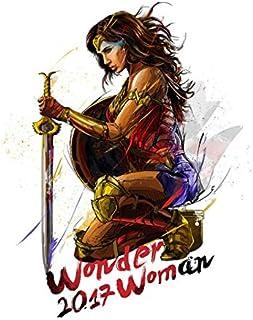 Fymm丶shop Wonder Woman Ink Style HD Poster Pintura De Lienzo Decoración De Hogar Habitación De Niños Pintura Sin Marco 50X60Cm (N: 4328)
