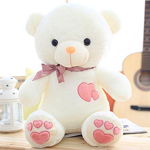 VERCART Grand Nounours Ours en Peluche XXL Teddy Bear Jouet Oursons Douce Cadeaux pour Bébé Enfant Ado Fille Garçon Blanc 90cm
