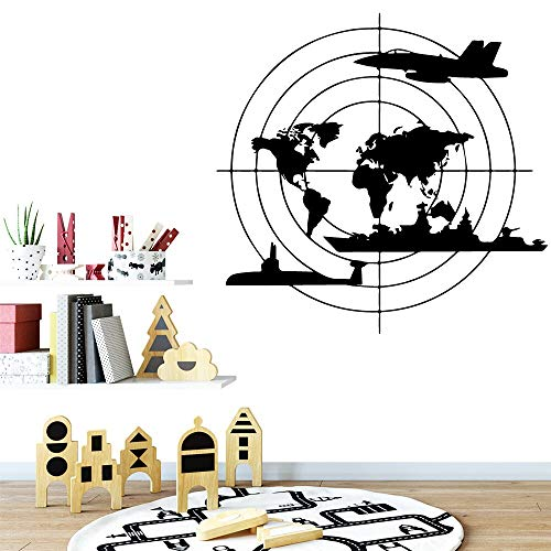 Yaonuli wereldkaart muursticker familie decoratie muursticker kinderkamer woonkamer familie party decoratie