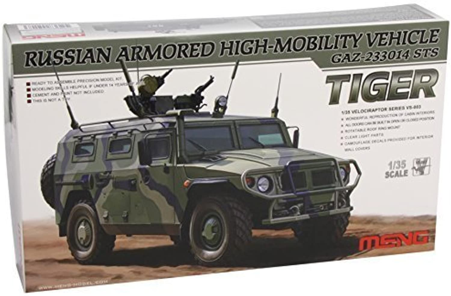 Meng Models GAZ233014 STS Tiger Russian ArmGoldt High-Motility Vehicle, 1 35 Scale by Meng Models