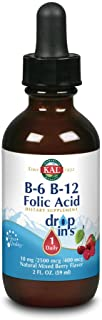 Kal B-6 B-12 Folic Acid Mixed Berry Dropins, 2 Fluid Ounce