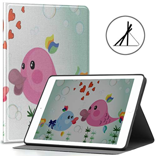 Ipad 9.7-inch Cover (Soft Case) Mothers Day Fishvector Ipad Air 2/9.7-inch Cover with Automatic Wake/Sleep Function, Suitable for Ipad 9.7
