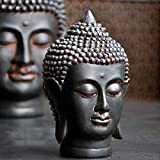 NYKK Figura Buda meditando Yoga Primera casa Feng Shui Edad Resina Zen Adornos de la Cabeza de Buda Buda Decoración Estatua Buda Sentado (Size : 11x10x16cm)
