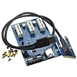Mini PCI Express to Dual PCI Adapter Card PCIe x1 to Router Tow 2 PCI Slot Riser Card