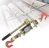 HNWTKJ Polipasto de Tracción Resistente, Cabrestante Manual, Cabrestante Portátil, Ideal para Mover Vehículos, Máquinas, Troncos y Otros Objetos Pesados (Size : 4T(15kn))