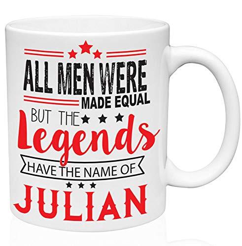 Lustige Kaffeetasse, Julian, 325 ml, Keramik, hochwertige Tasse für Tee oder Kaffee