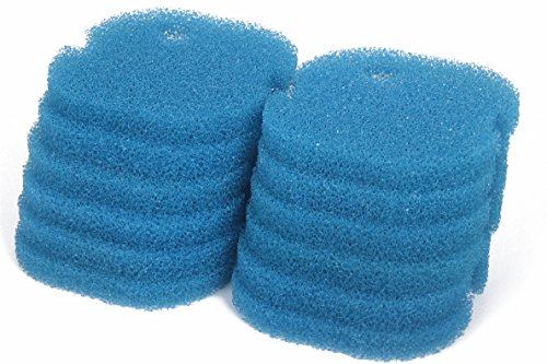 LTWHOME Compatible Grossier Mousseux Filtration Convient pour AquaOne Aqua One AQUIS 700/750 et 500/550 (Paquet de 12)