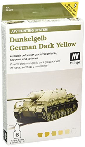 Vallejo Model Color Armour Colour Set - AFV Dunkelgelb