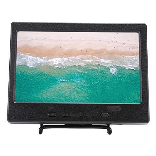 7-Zoll-Bildschirm, 1024 x 600 16: 9-TFT-LCD-Bildschirm, 300 cd/m² Helligkeitsanzeige, passend für Raspberry Pi 4B, Plug & Play, HDMI/VGA/RCA-Videoeingang, mit Halterung(EU)