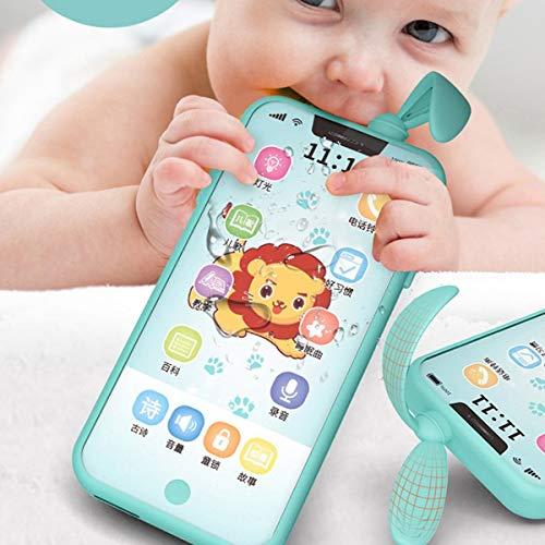 Nihlsen Unisex Educación Infantil Temprana Pantalla Táctil Inteligente Teléfono Iluminación para Bebés Juguete Simulación Teléfono Multifunción