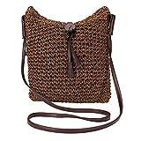 Men club かぎ針編みのバッグサマーバッグストロービーチバッグ手作りバッグストロートートバッグ女性のメッセンジャーバッグ1ピースクリエイティブで便利