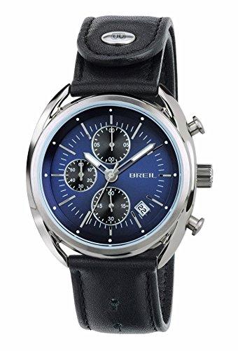 Breil Herren Chronograph Quarz Uhr mit Leder Armband TW1528