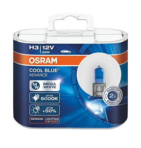 Osram 2 X Bombillas De Coche H3 12 V 55 W pk22s Cool Advance 62151cba 5000 K Efecto Xenón Blanco