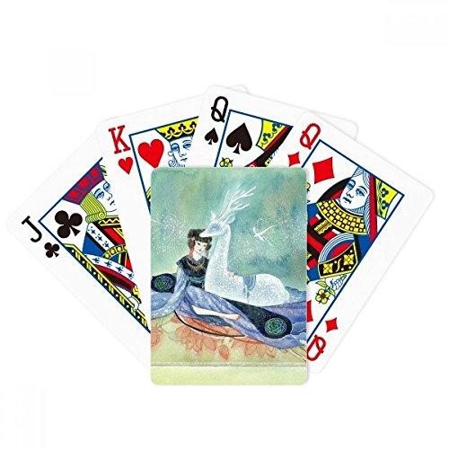 Biały jeleń chiński antyczny ilustrator poker gra magiczna karta zabawa gra planszowa