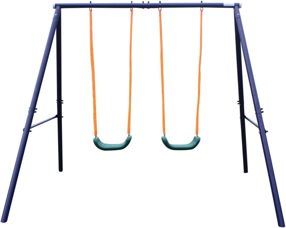KLB Sport A-Frame Metal Swing Set