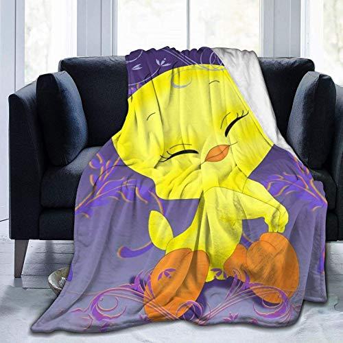 Tweety Bird Ultraweiche Micro-Fleece-Decke, Mikrofaser, für alle Jahreszeiten, warme Decke für Bettwäsche, Sofa und Reisen, 127 x 101,6 cm