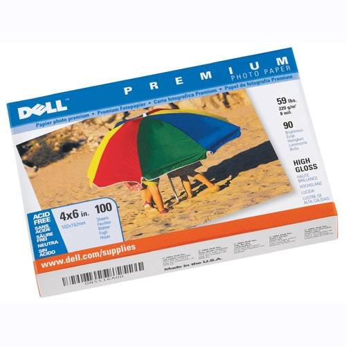 Dell Premium Photo Paper - 4X6 in. - High Gloss - 100 Sheets