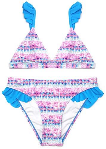 SHEKINI NiñA 2 Piezas TriáNgulo Cenefa Bikini Traje De BañO Cintura Baja...