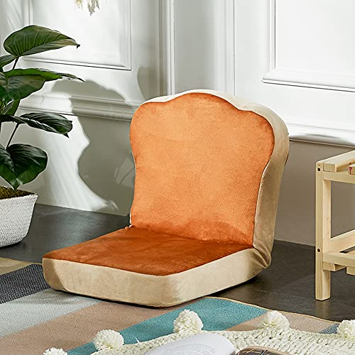 Adult Chair for Indoor and Outdoor Use Folding Single Small Sofa Balcony Bedroom Tatami Recliner Computer Back Seat On Bed Casual Perfect Lounge or Gaming Chair,coffee