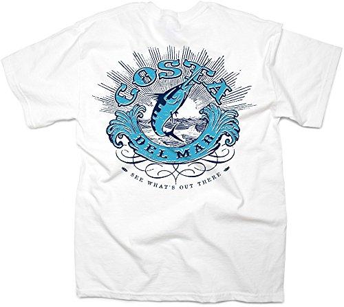Costa Del Mar Men's Costa Classic Short Sleeve T Shirt, White, XX-Large