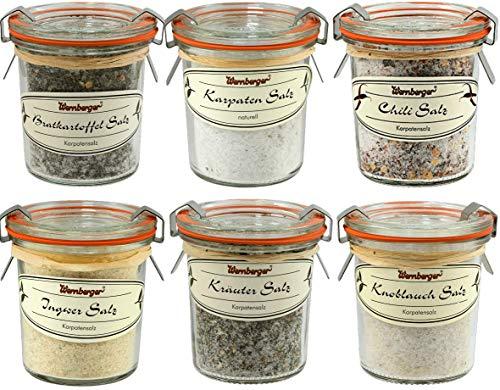 Salz Set Geschenkset mit 6 Salzen Klassik Edition