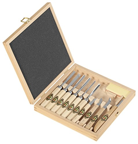 Hot Sale Two Cherries 515-3441 11-piece Carving Tools In Wood Box