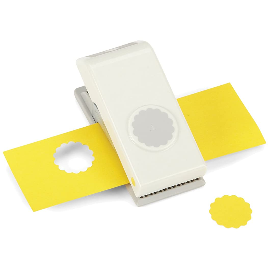 EK Tools Circle Punch, 1-Inch Scalloped Edge, New Package