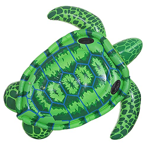 JSJE Fila Flotante de la Tortuga Inflable, balsa Inflable del colchón en la Playa Gigante, la Cama Flotante Flotante de PVC Duradero, la Playa de la Orilla del Agua