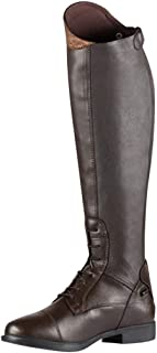 Knee High Boot-RQWEIN Women's Wide Calf Knee High Boots Low Chunky Heel Shoes Fashion Zipper Strappy Retro Riding Boot