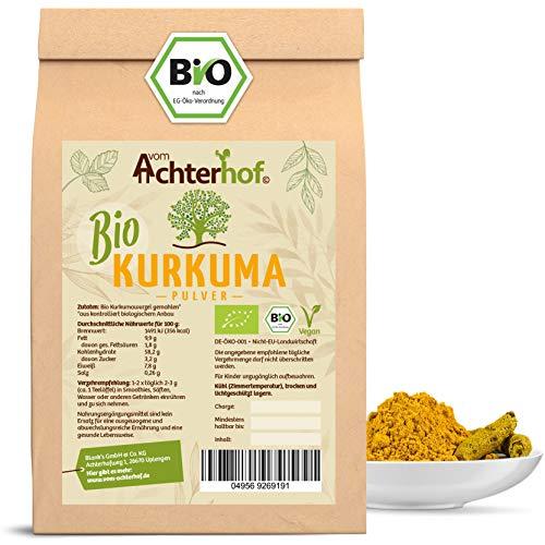 Bio Kurkuma Pulver 1Kg Kurkumawurzel gemahlen als Gewürz für Paste oder Curcuma Latte natürlich...