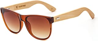 SUERTREE Bamboo Sunglasses Vintage Shades Retro Wooded UV400 Protect Rimless Eyeglasses JH8004