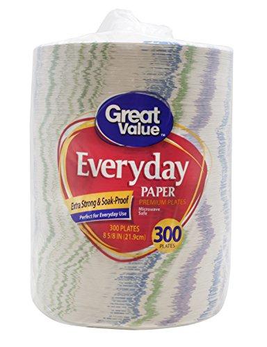 Great Value Everyday Premium Pappteller, 21,6 cm, 300 Stück