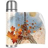Xingruyun Termo Taza Hoja de Arce de Paris Eiffel Botella Agua niños De Acero...