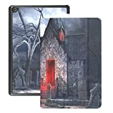 Kindle Fire Hd 8 Cover Dark Gothic Scenery Old Crypt Creepy Fire Hd 8 Case Cover (2018 2017 2016 Release,8th/7th/6th Generation) with Auto Wake/Sleep
