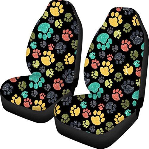 Baja Bucket - Juego de 2 fundas para asientos delanteros de coche, ajuste universal, para vehículos sedán, SUV, protector interior de coche, diseño de atrapasueños de caballos
