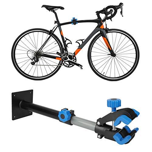 Maxjaa Soporte de reparación de bicicleta de montaje en pared, giratorio de 360 ° 42-56 cm Abrazadera de soporte de estacionamiento ajustable Banco de trabajo dentro de 30 kg