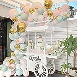 196 unids/set arco de guirnalda de globos azul rosa pastel para boda, despedida de soltera, fiesta, cumpleaños, festival, decoración-igual que la foto