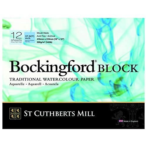 Bockingford Watercolor Block 12 X 16 White 140 Pound