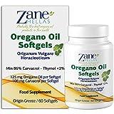 Zane Hellas Oregano Oil Softgels. La mayor concentración del mundo. Cada cápsula contiene un 25% de aceite esencial de orégano griego puro. 108 mg de Carvacrol por cápsula. 60 cápsulas.