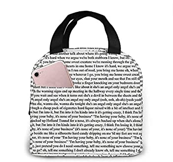 Every Lyric from Harry Styles Album Home Decorative Throw Pillow Cases Sofa Couch Cushion Large Lunch Bag Insulated Lunch Bag Soft Cooler Cooling Tote