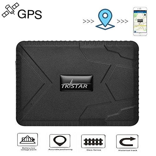 Rastreador GPS para Vehículos, Real Antirrobo Localizador GPS Impermeable on Seguimiento de Actividad Fuerte Imán Recargable 120 días Standby GPS Tracker con App/Web No Installation TK915